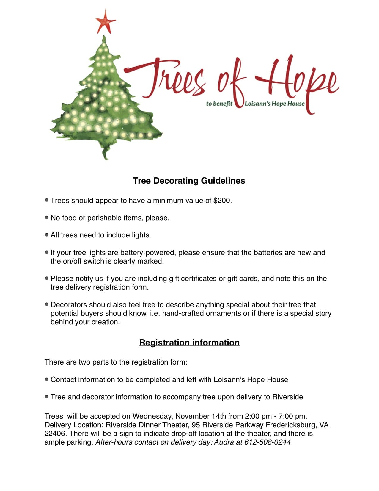 Tree Decorator Guidelines - Loisann\'s Hope HouseLoisann\'s Hope House