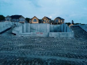 a foundation for a new house RXB5MKS