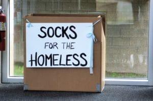socks for the homeless 9LF3HX8